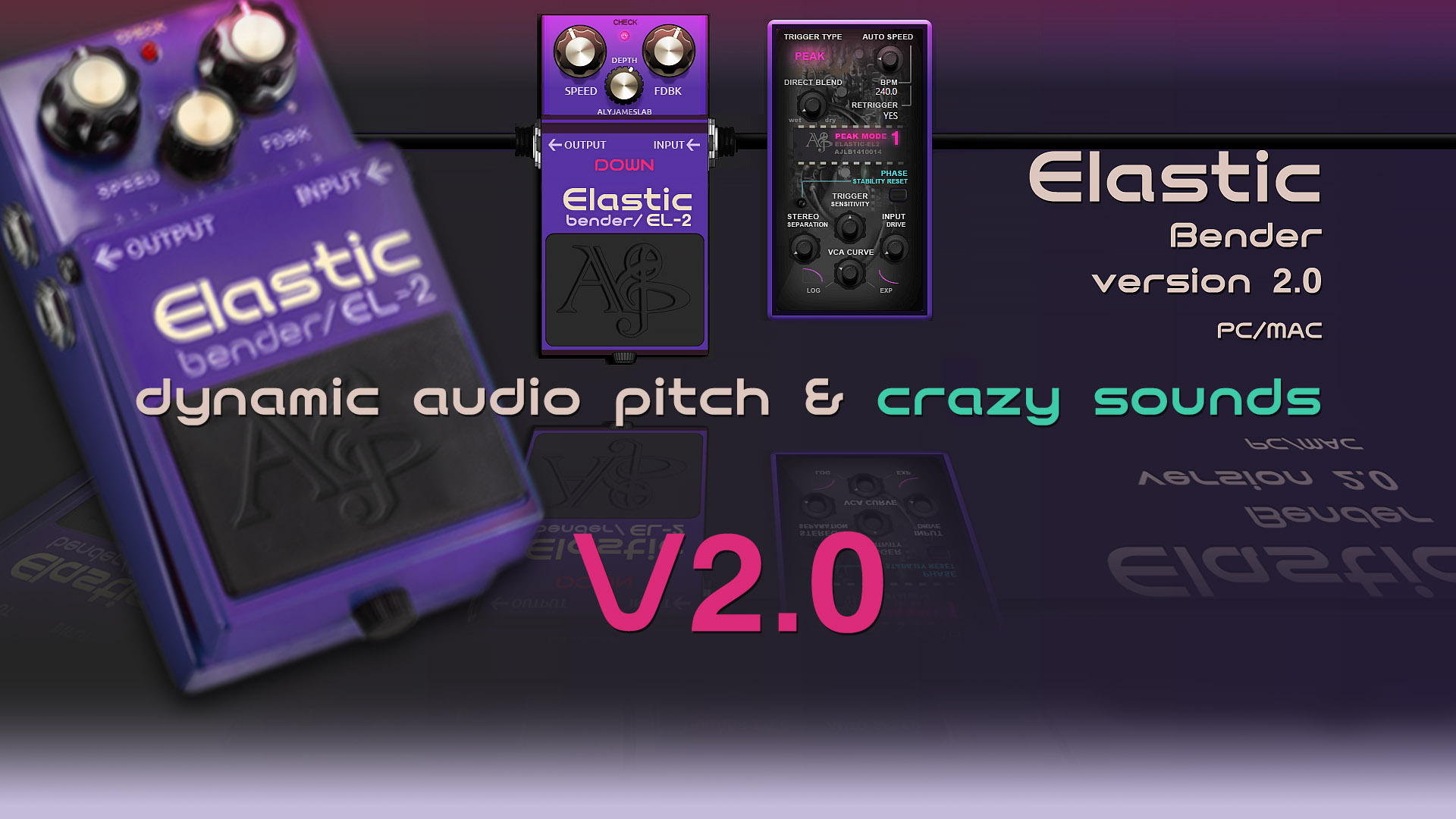 ALYJAMES LAB | ELASTIC BENDER VST --- Dynamic Audio Bend Pitchshifter