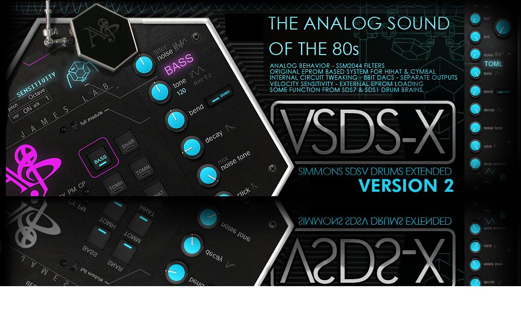 ALYJAMES LAB | VSDSX VST --- SIMMONS SDSV EXTENDED DRUM SYNTH